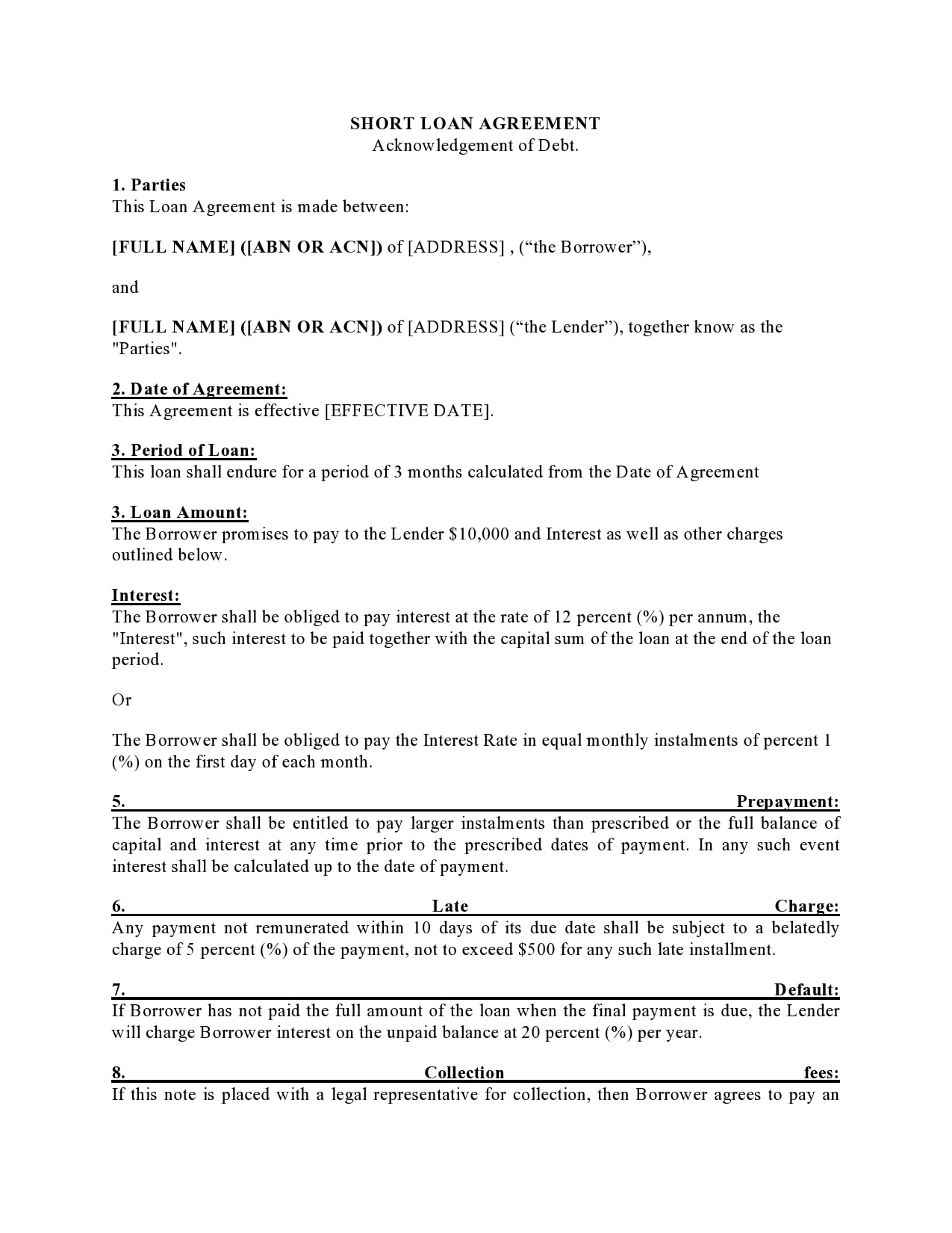 family loan agreement 29
