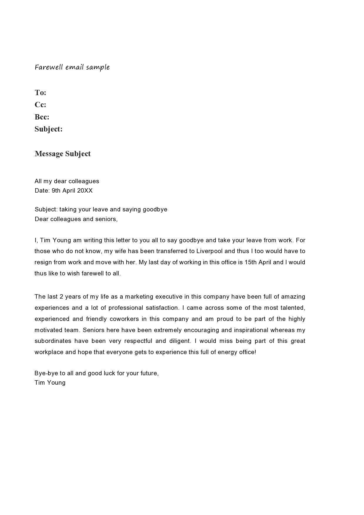 farewell letter 13