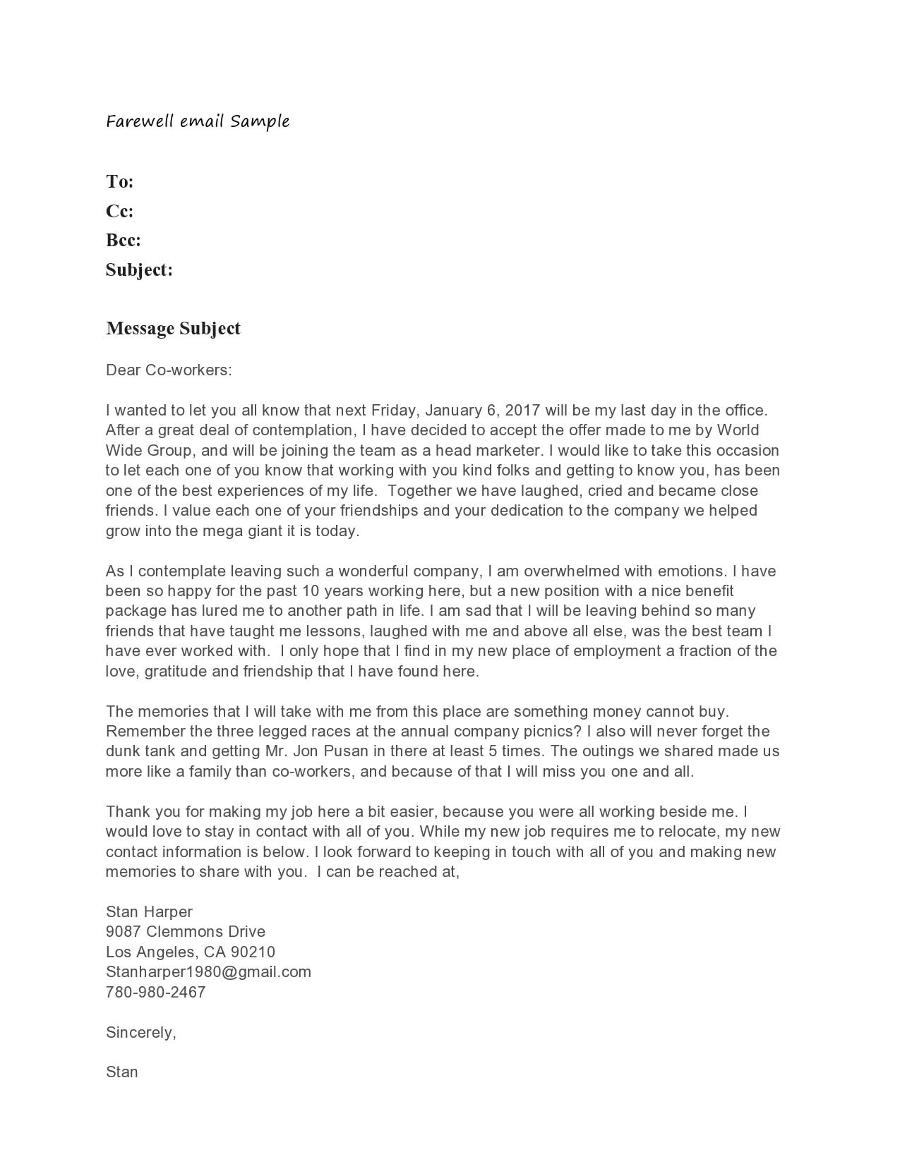 farewell letter 15