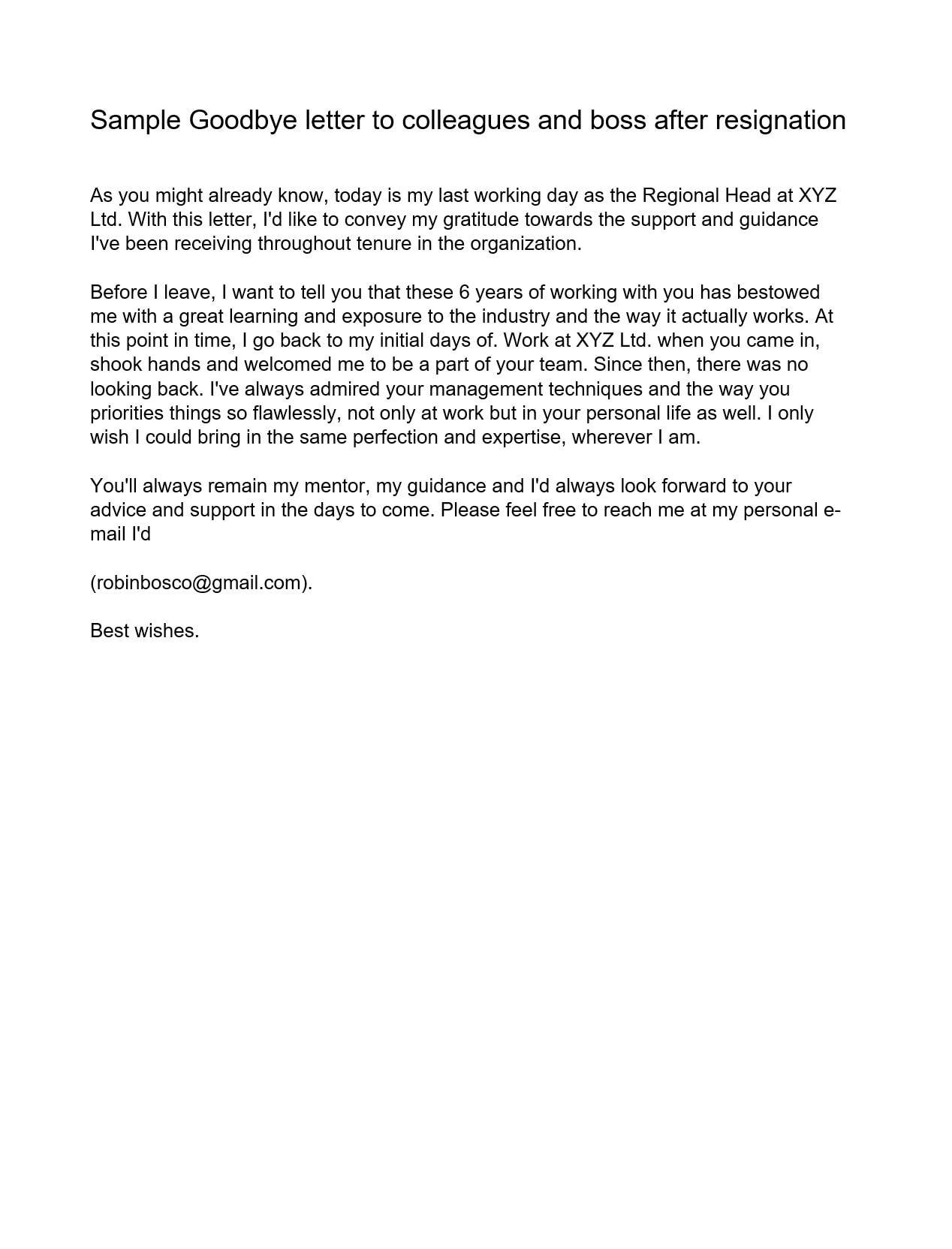 farewell letter 20