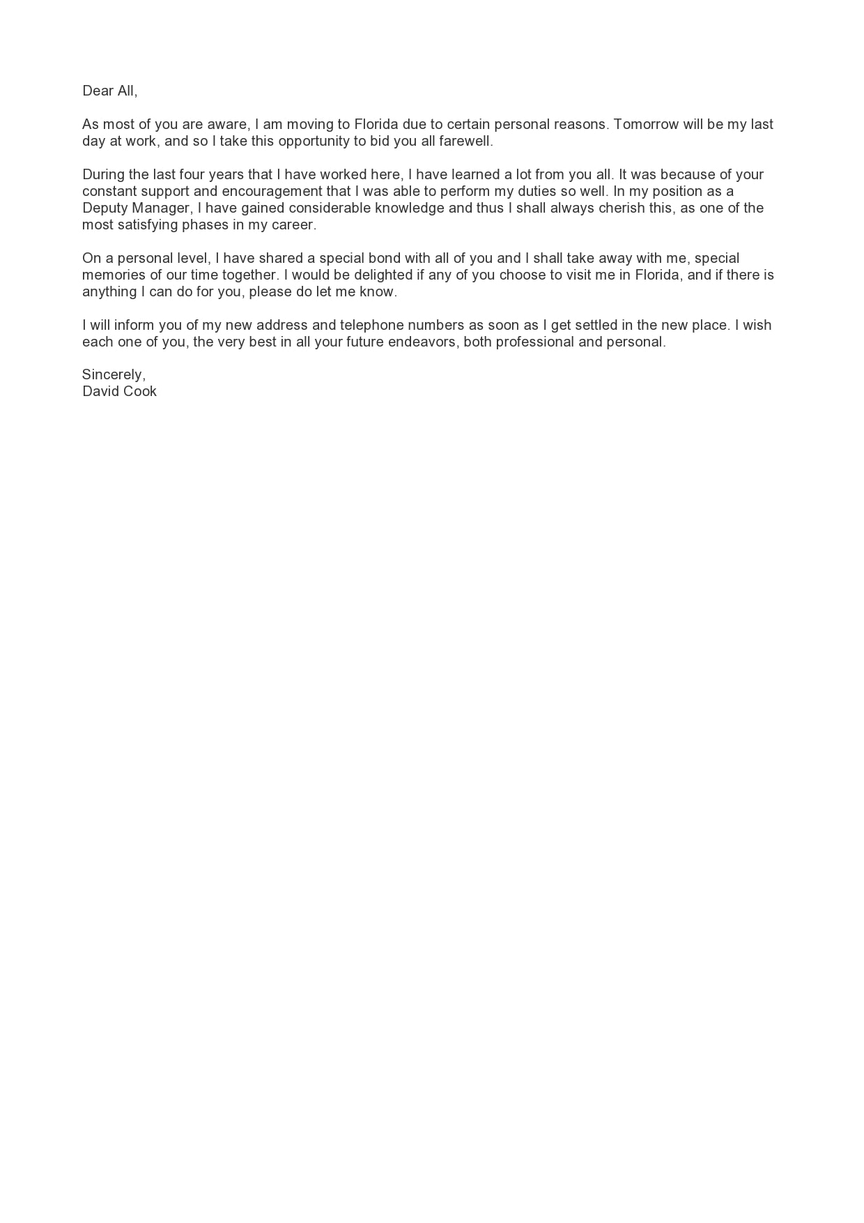 farewell letter 24