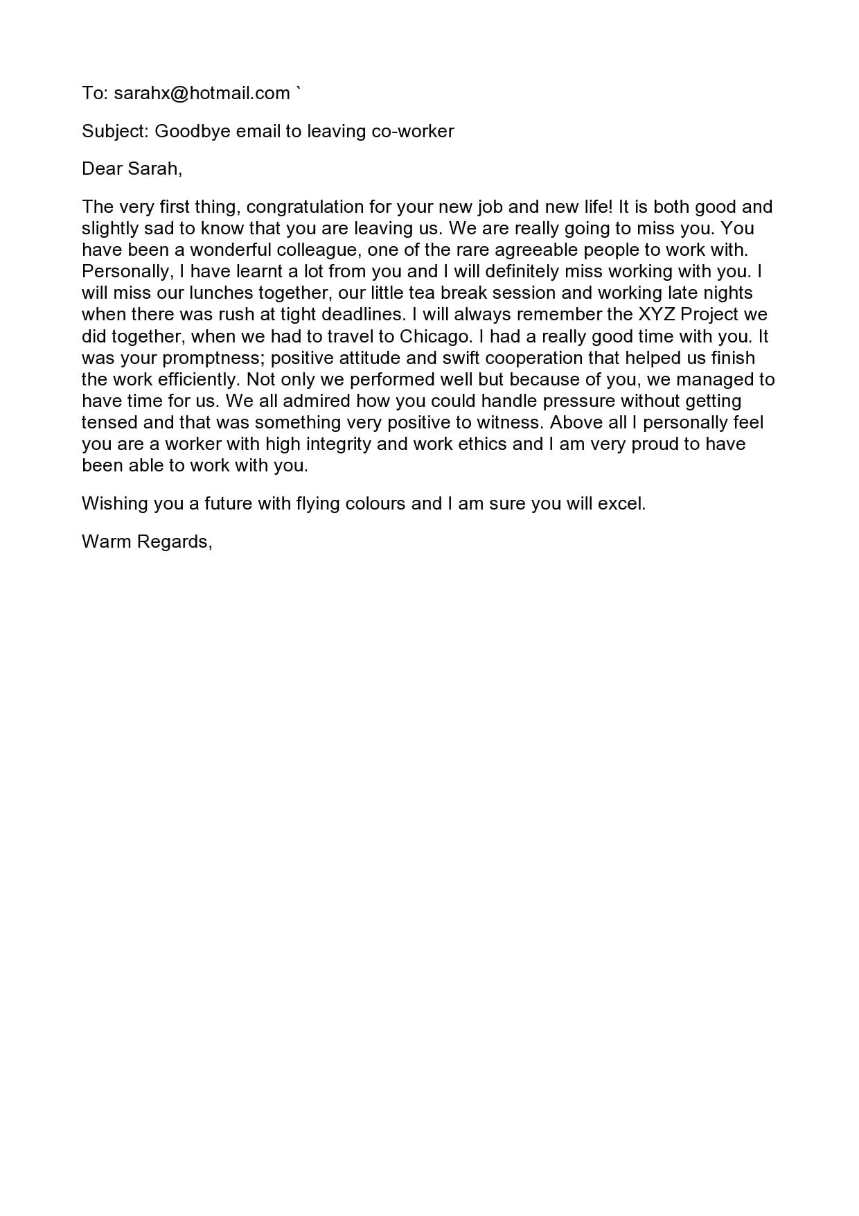 farewell letter 25