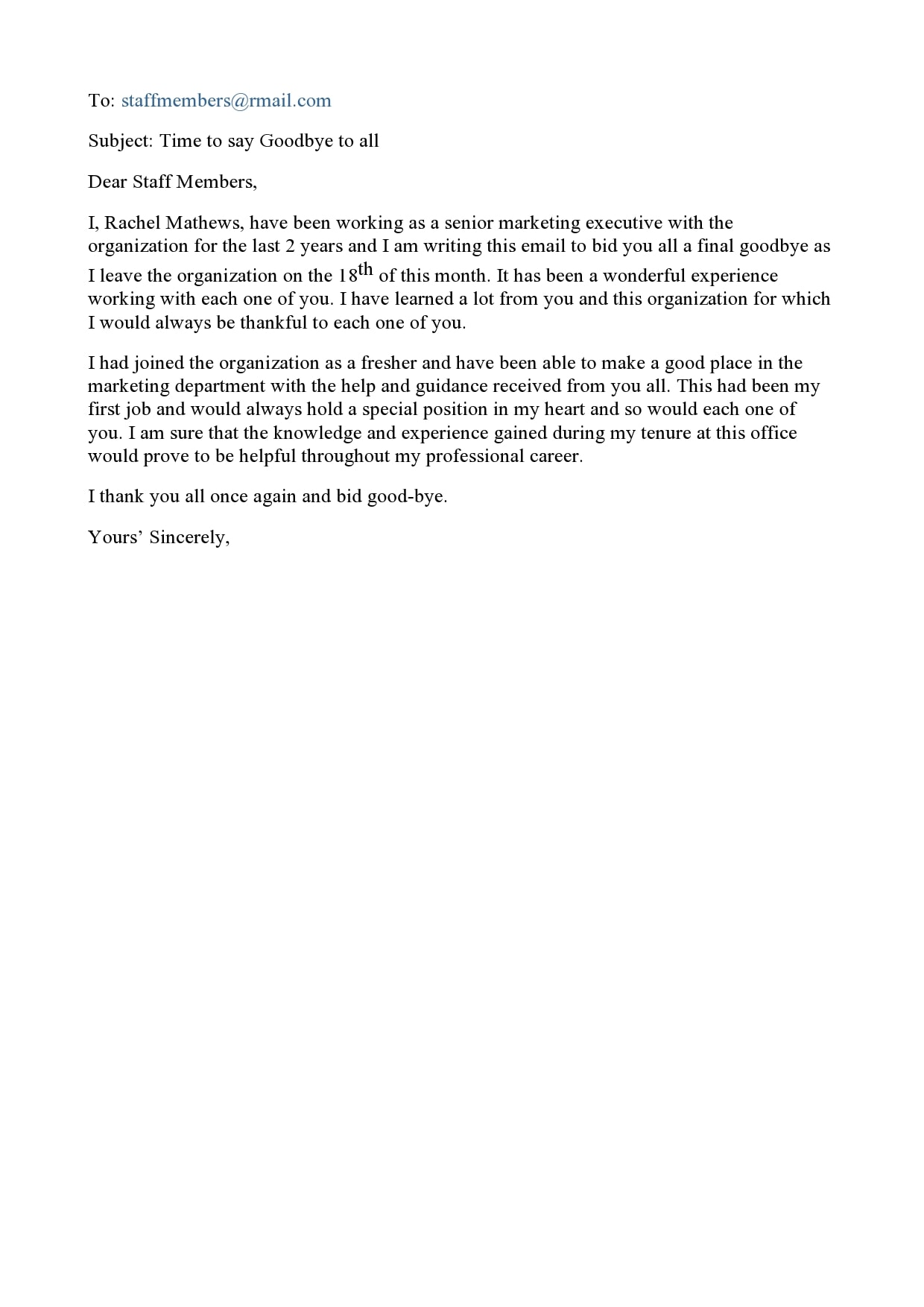 farewell letter 28