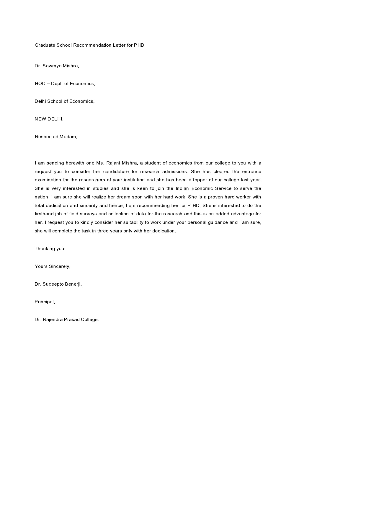 letter of recommendation for graduate school 16