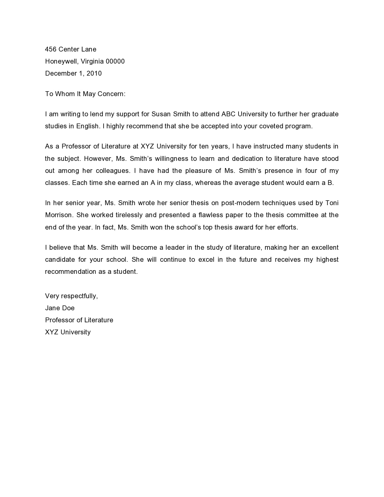 Letter Of Recommendation For Teacher from templatearchive.com