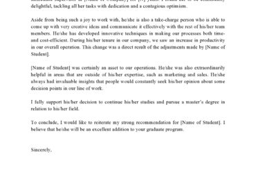 letter of recommendation for graduate school 23