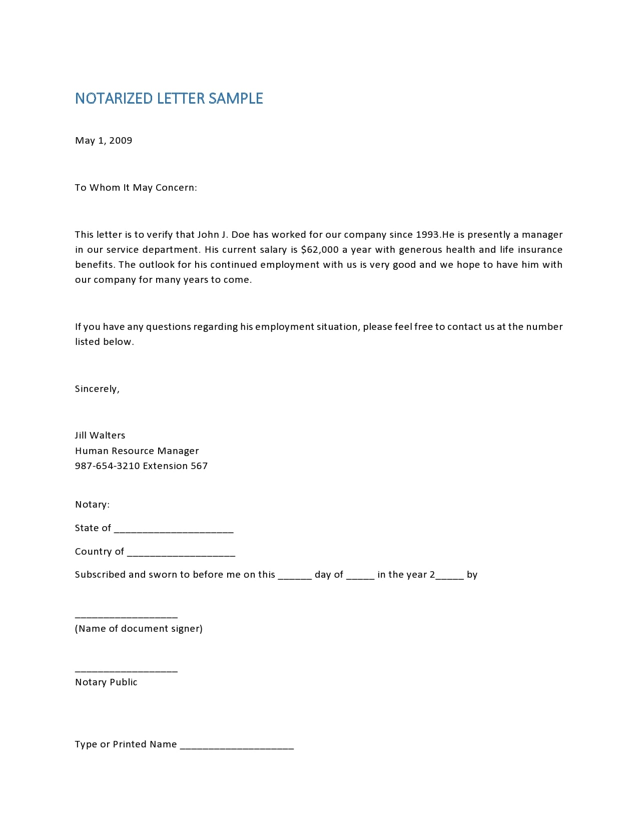 Notarized Letter For Child Support from templatearchive.com