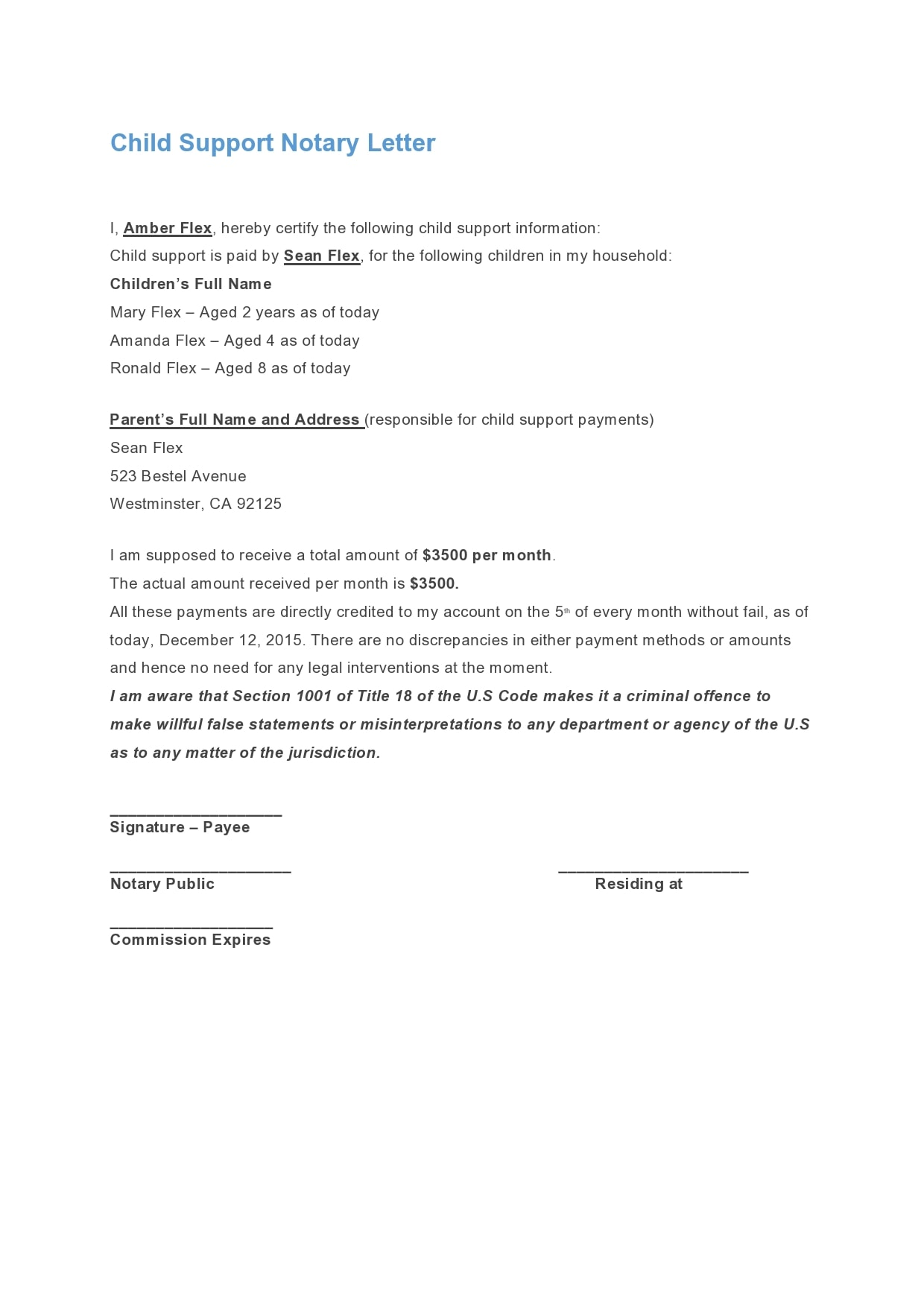 notarized letter 30