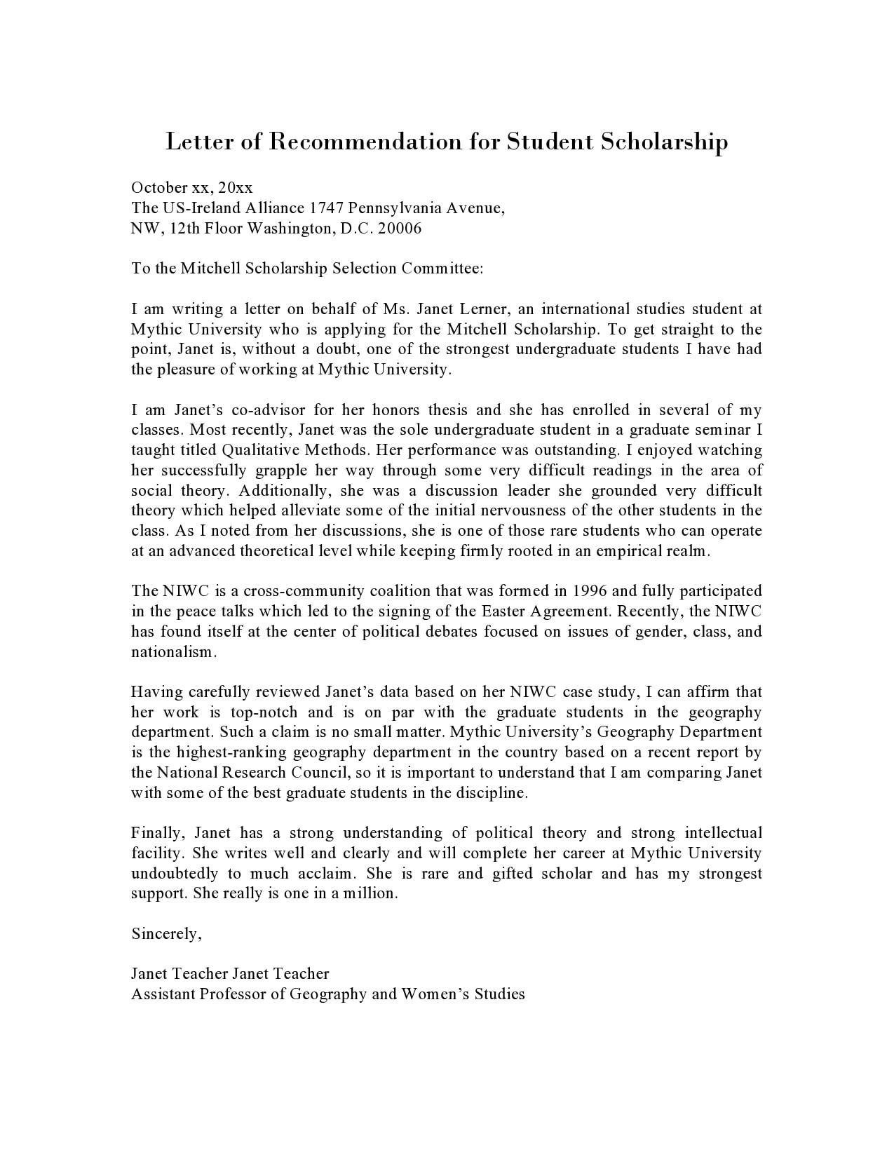 recommendation letter for scholarship 01
