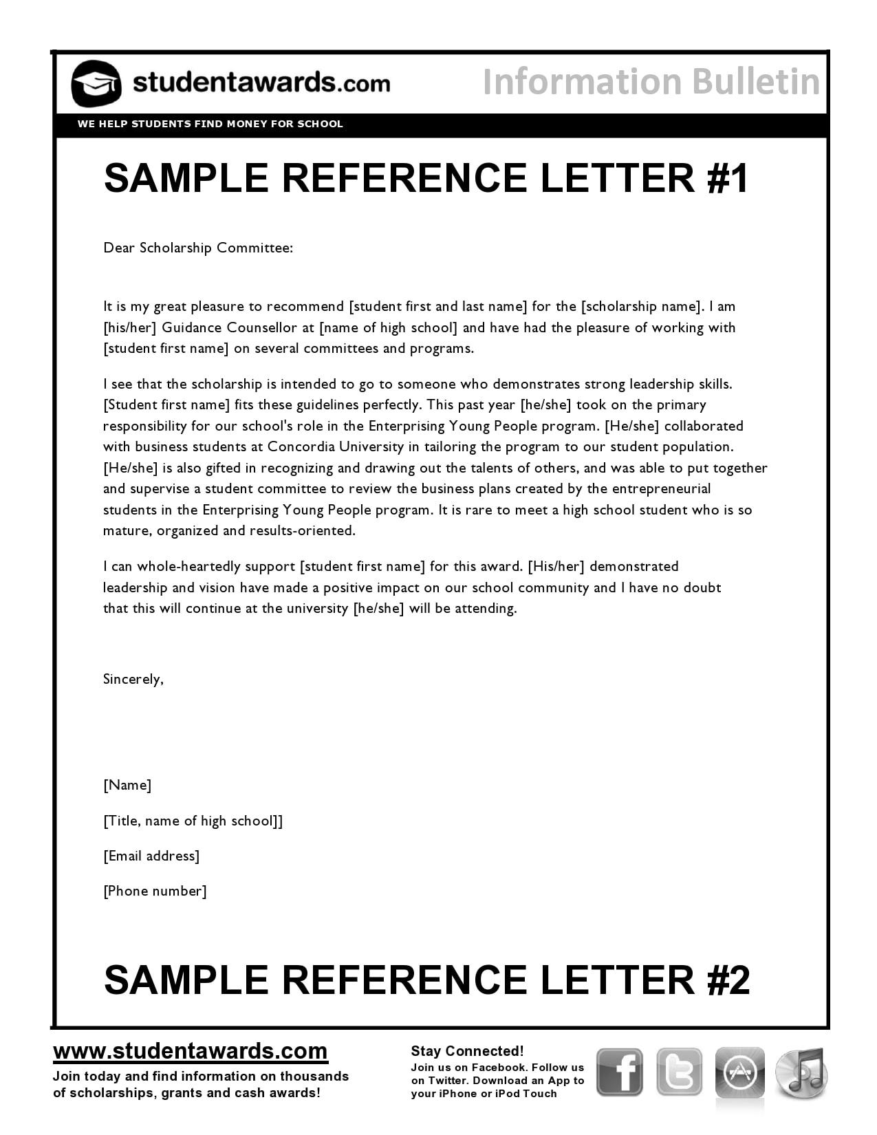 recommendation letter for scholarship 07