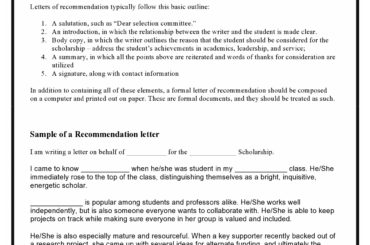 recommendation letter for scholarship 08