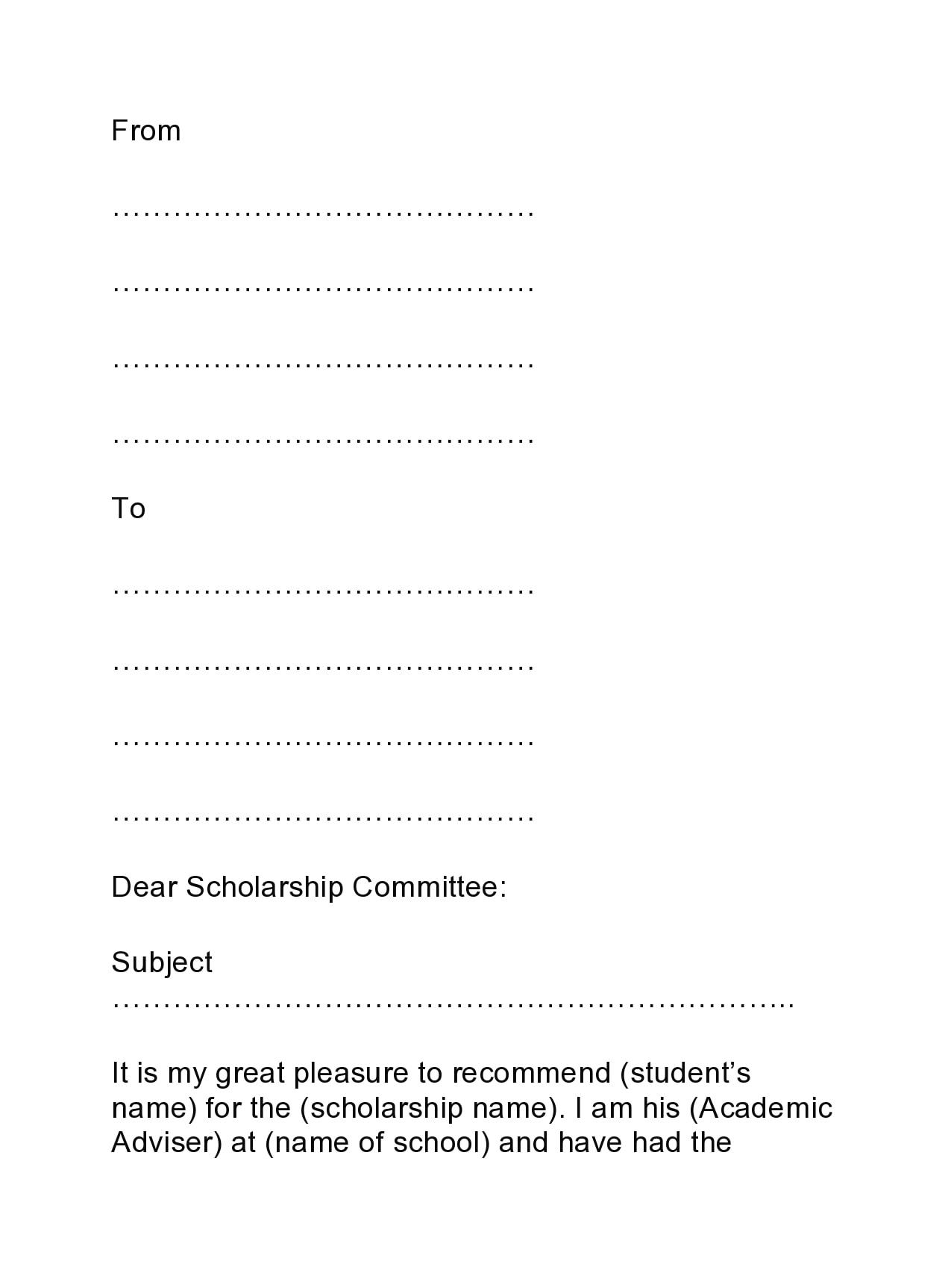 recommendation letter for scholarship 11