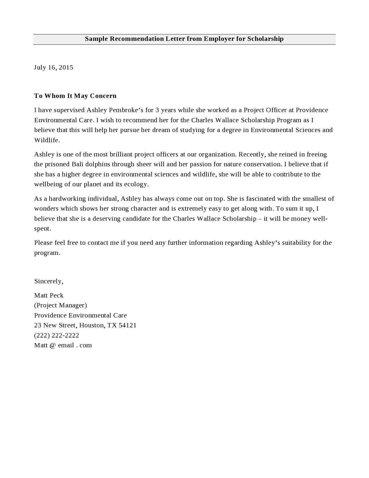 recommendation letter for scholarship 29