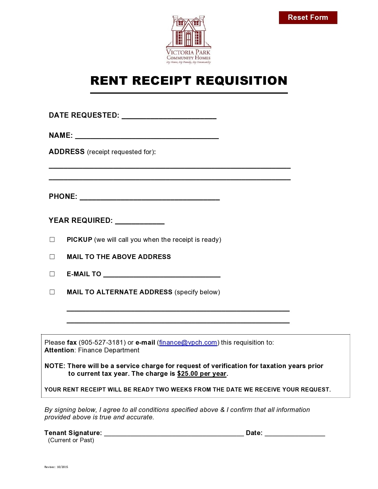 rent receipt 26