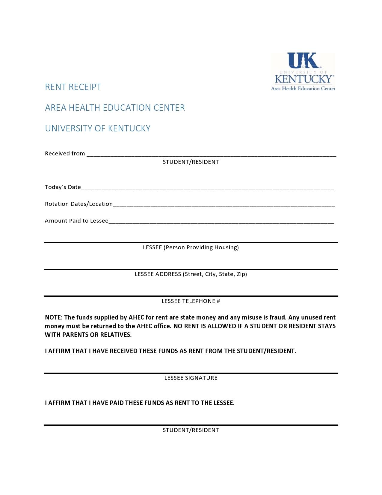 30 Printable Rent Receipt Templates [Word/PDF] - TemplateArchive