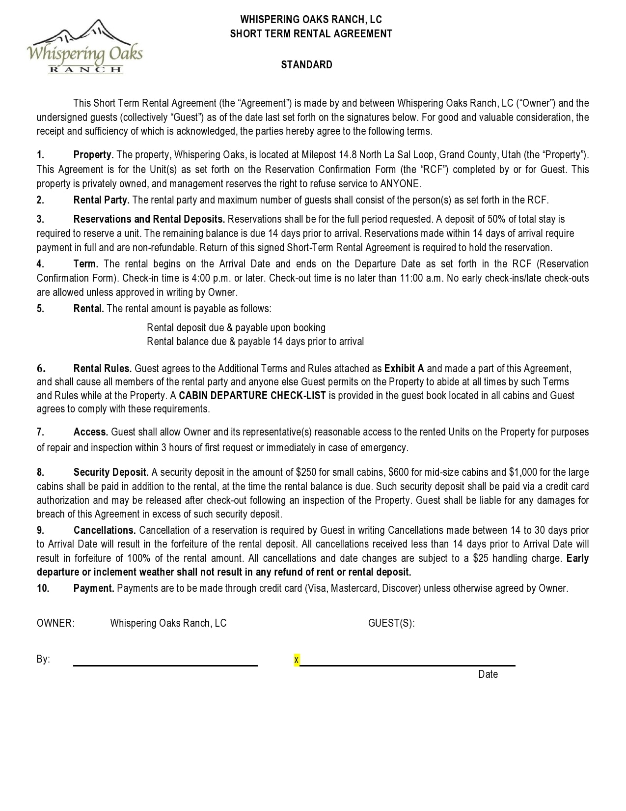 simple one page rental agreement 10