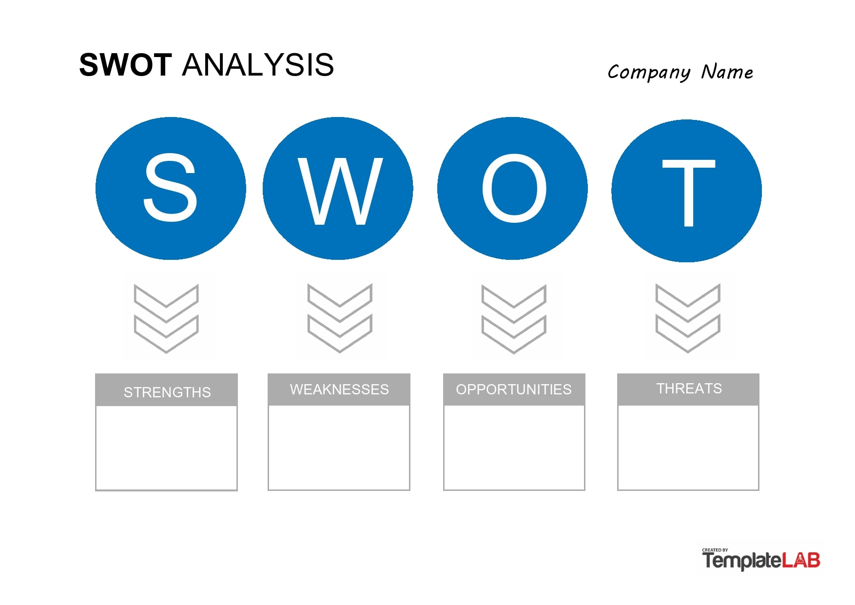 swot analysis template 18
