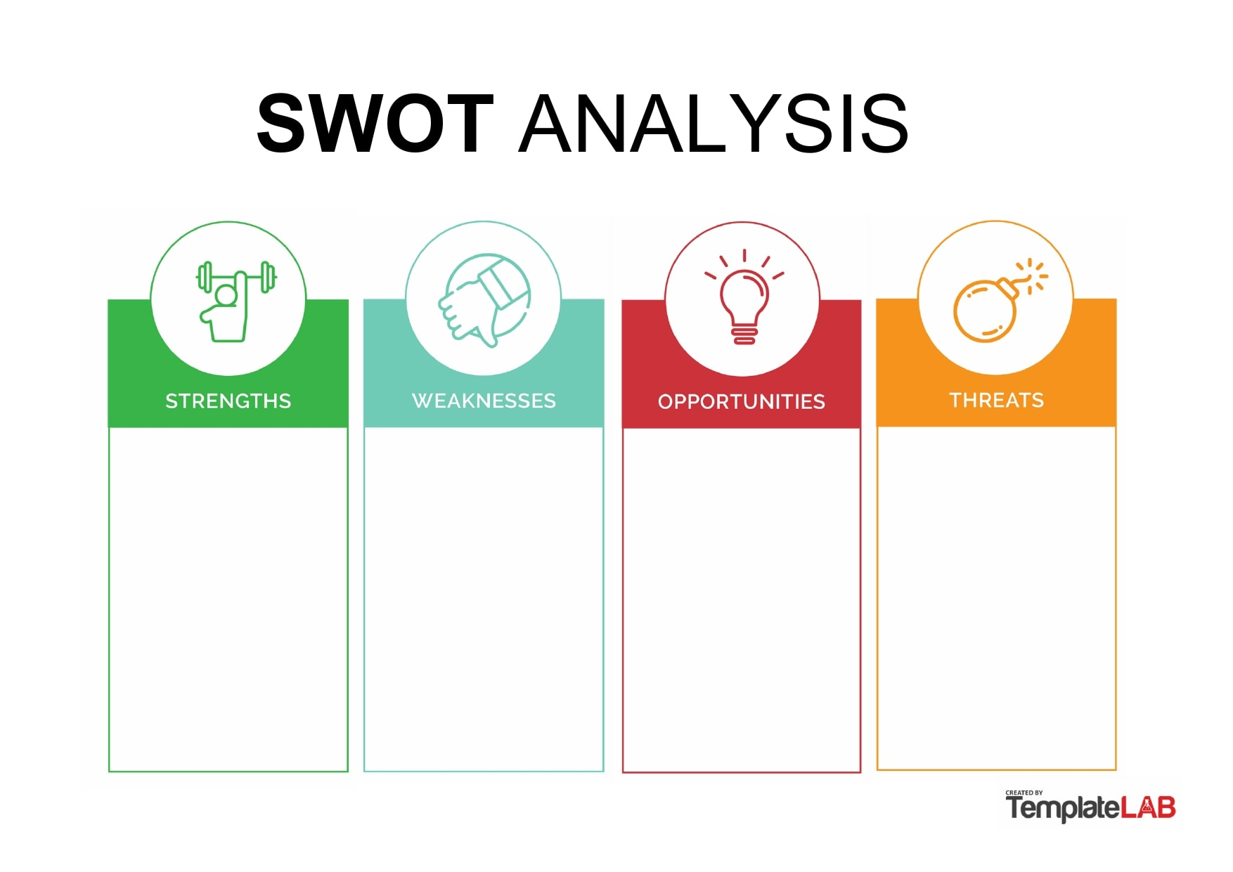swot analysis template 20