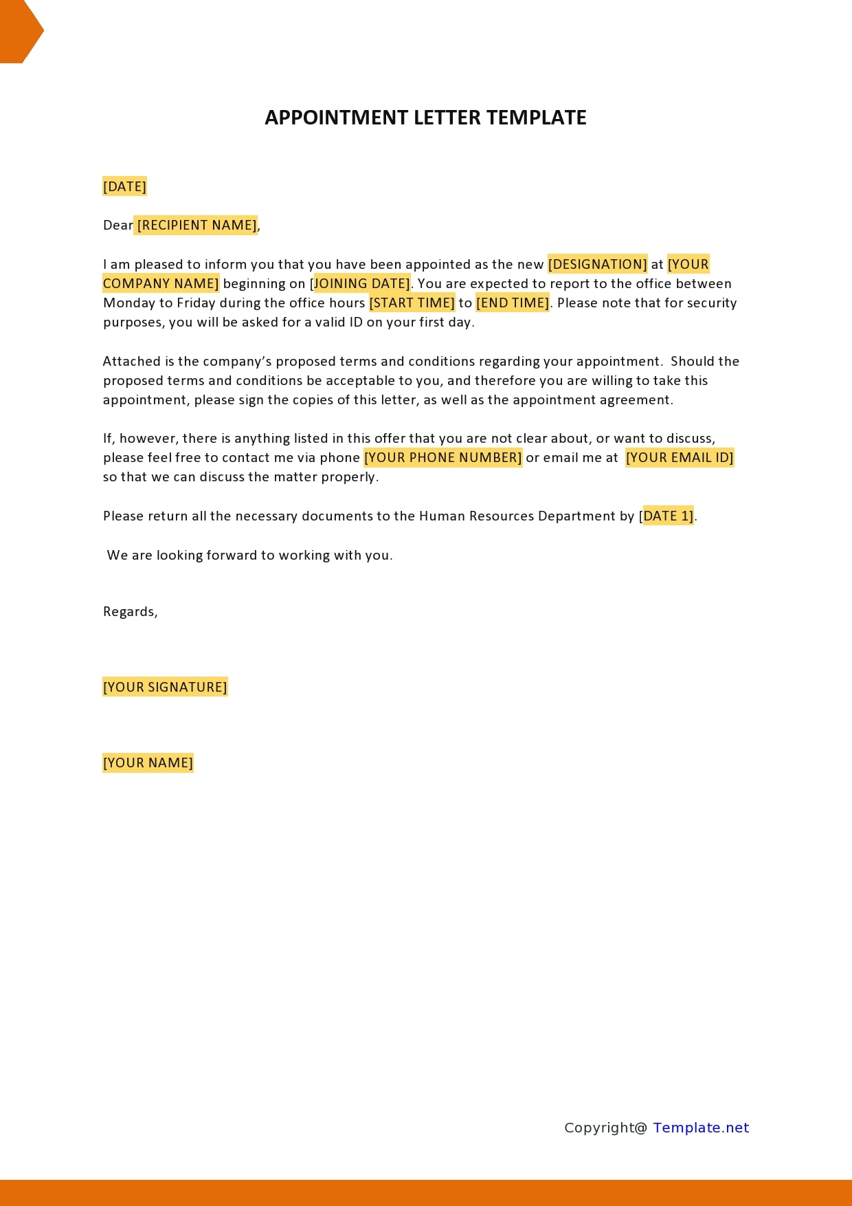 30 Professional Appointment Letter Samples For Any Job