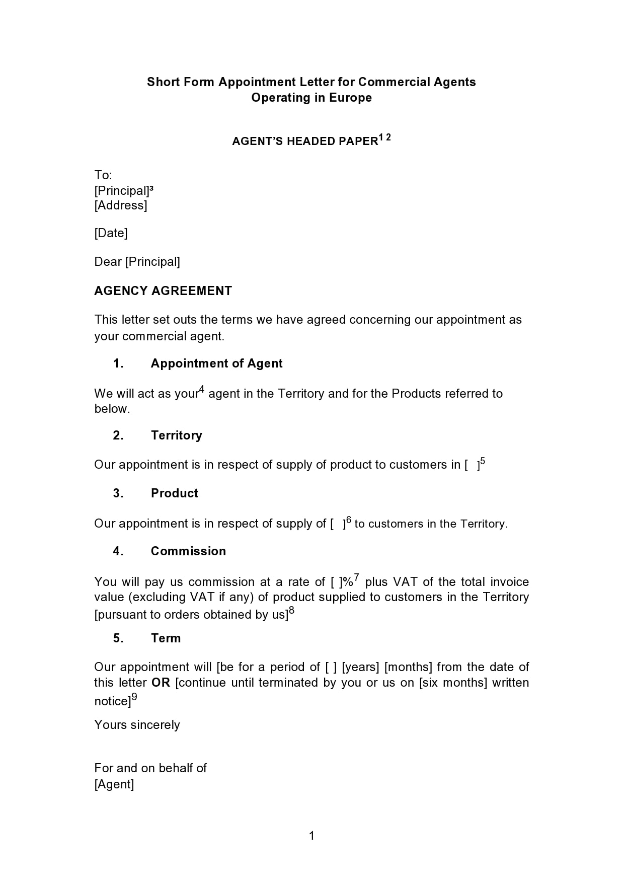 appointment letter 07