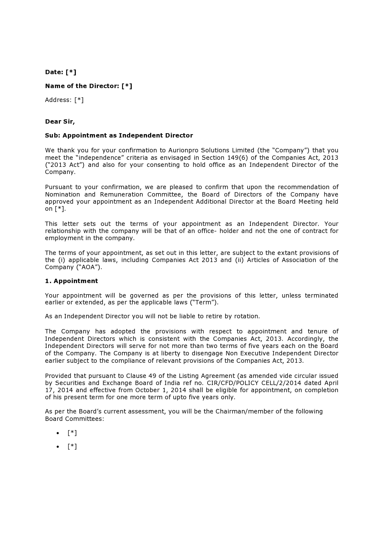 appointment letter 23