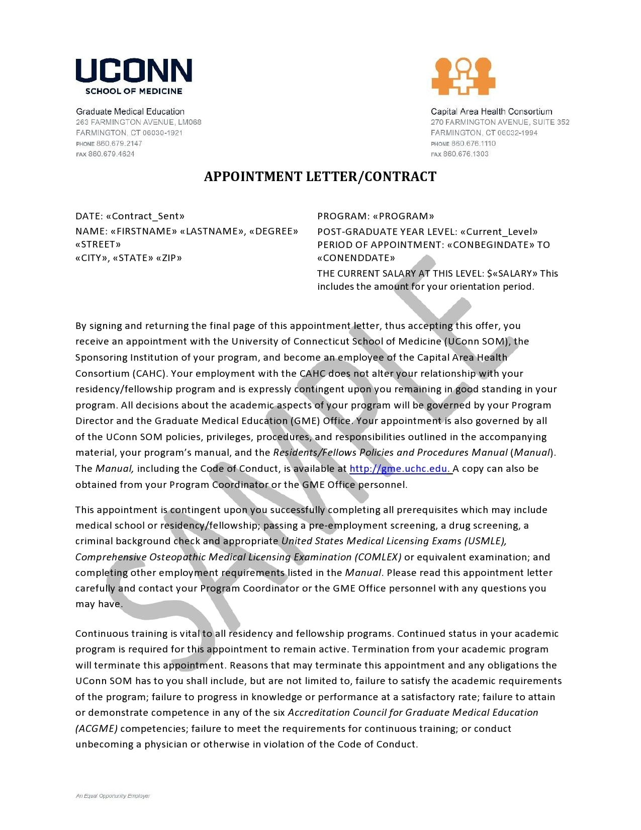 appointment letter 27