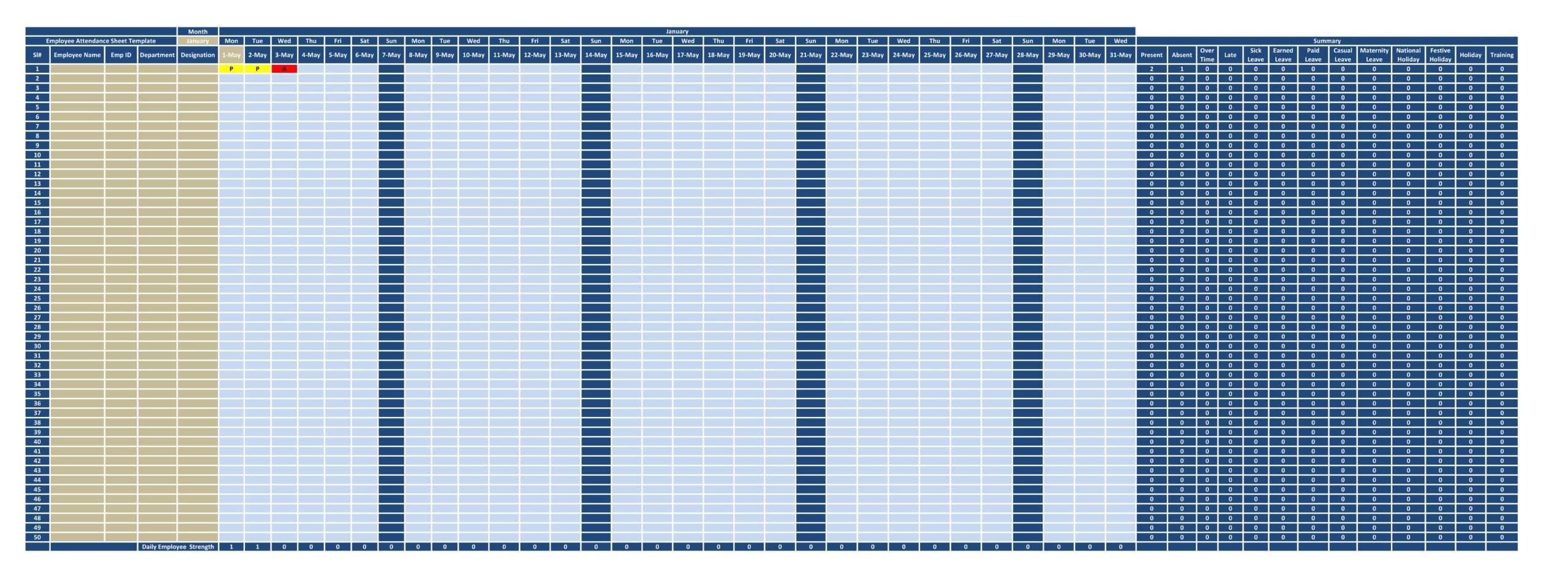 attendance sheet template 05
