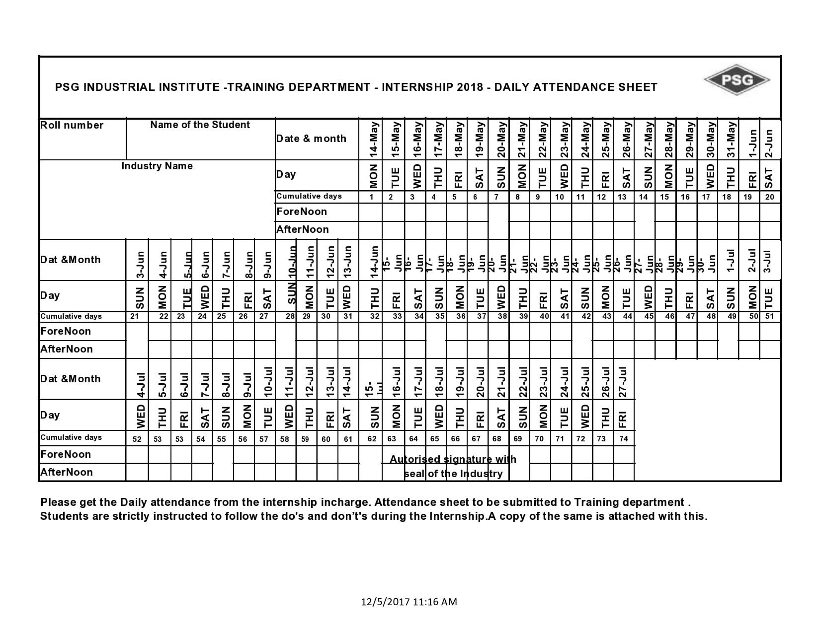 attendance sheet template 23