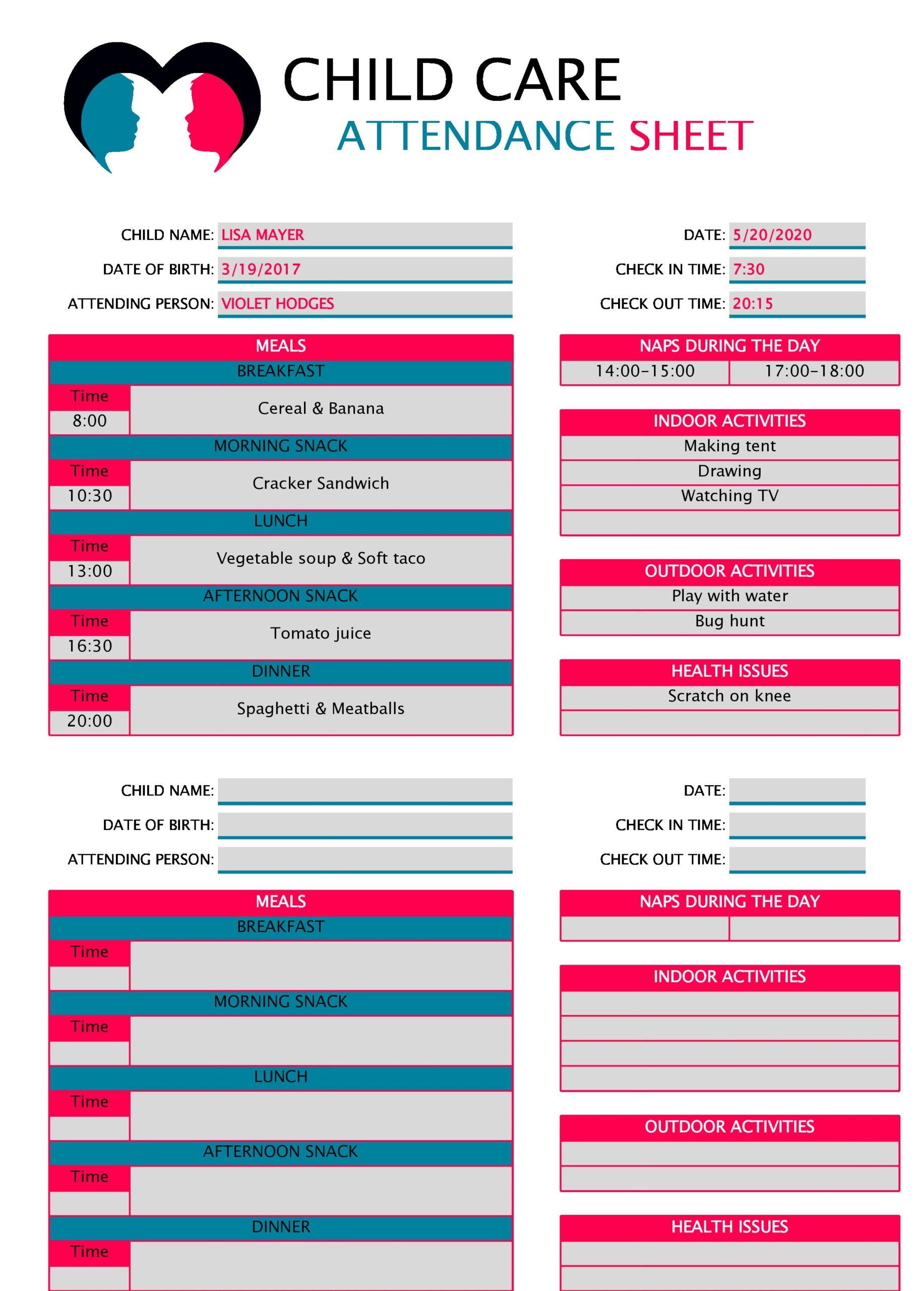 attendance sheet template 27