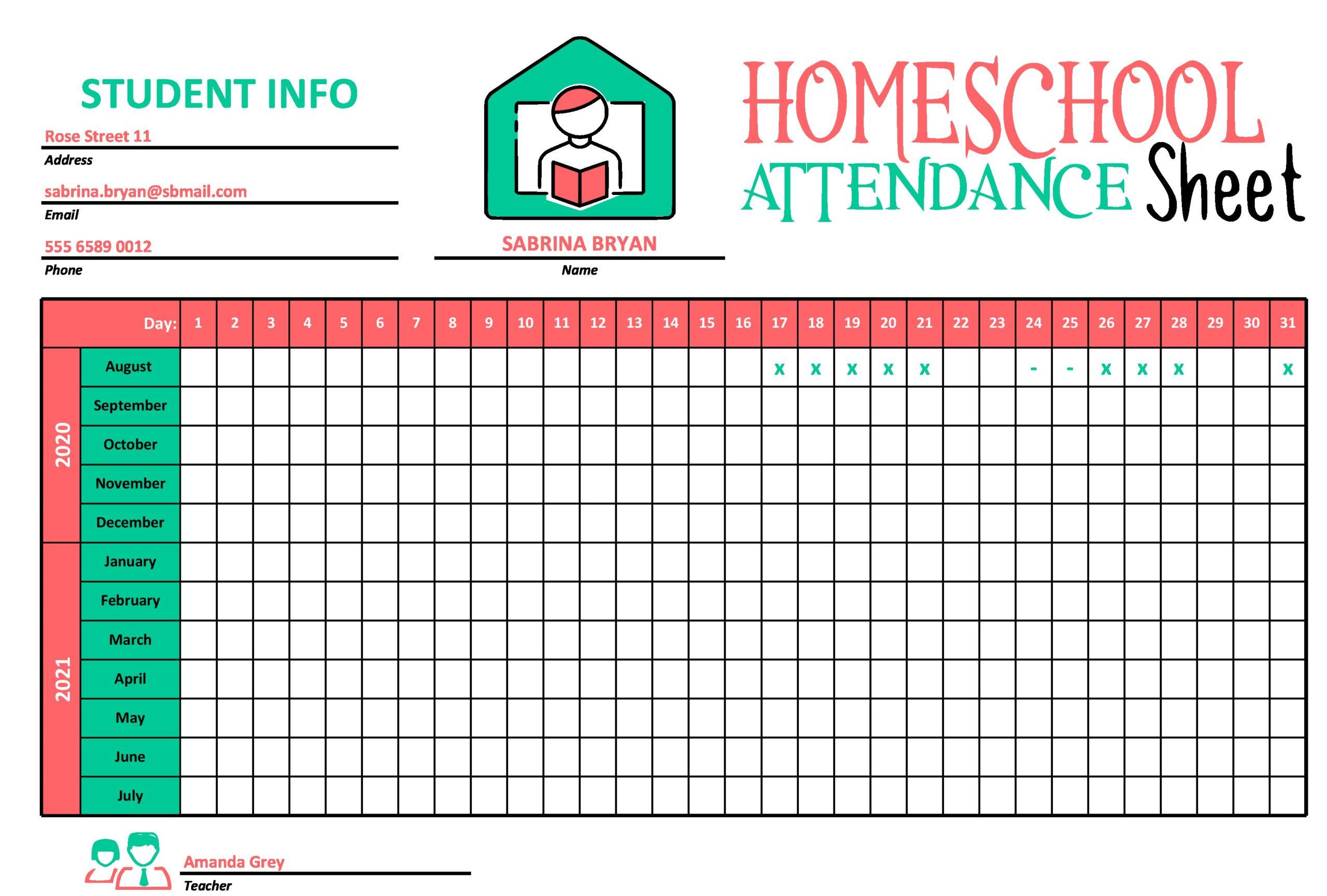 attendance sheet template 28