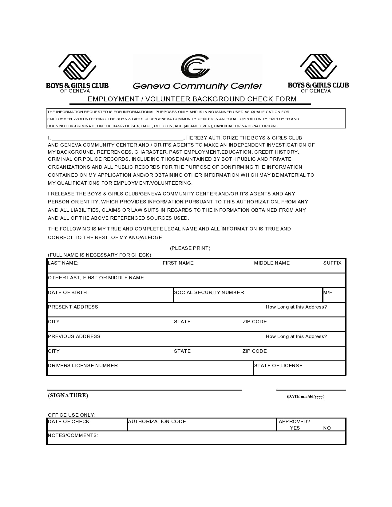 background check form 03