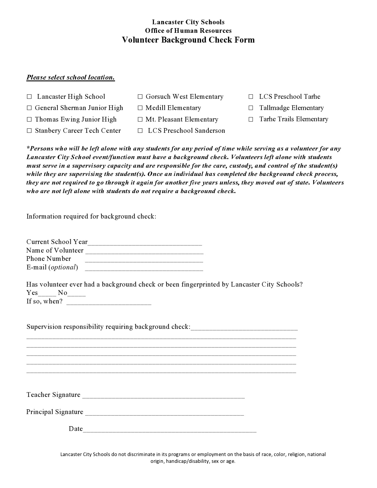 background check form 06