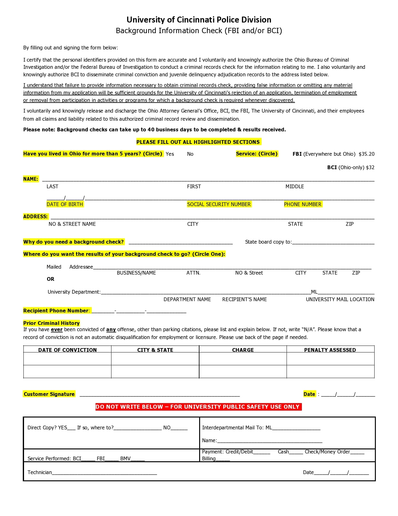 background check form 07