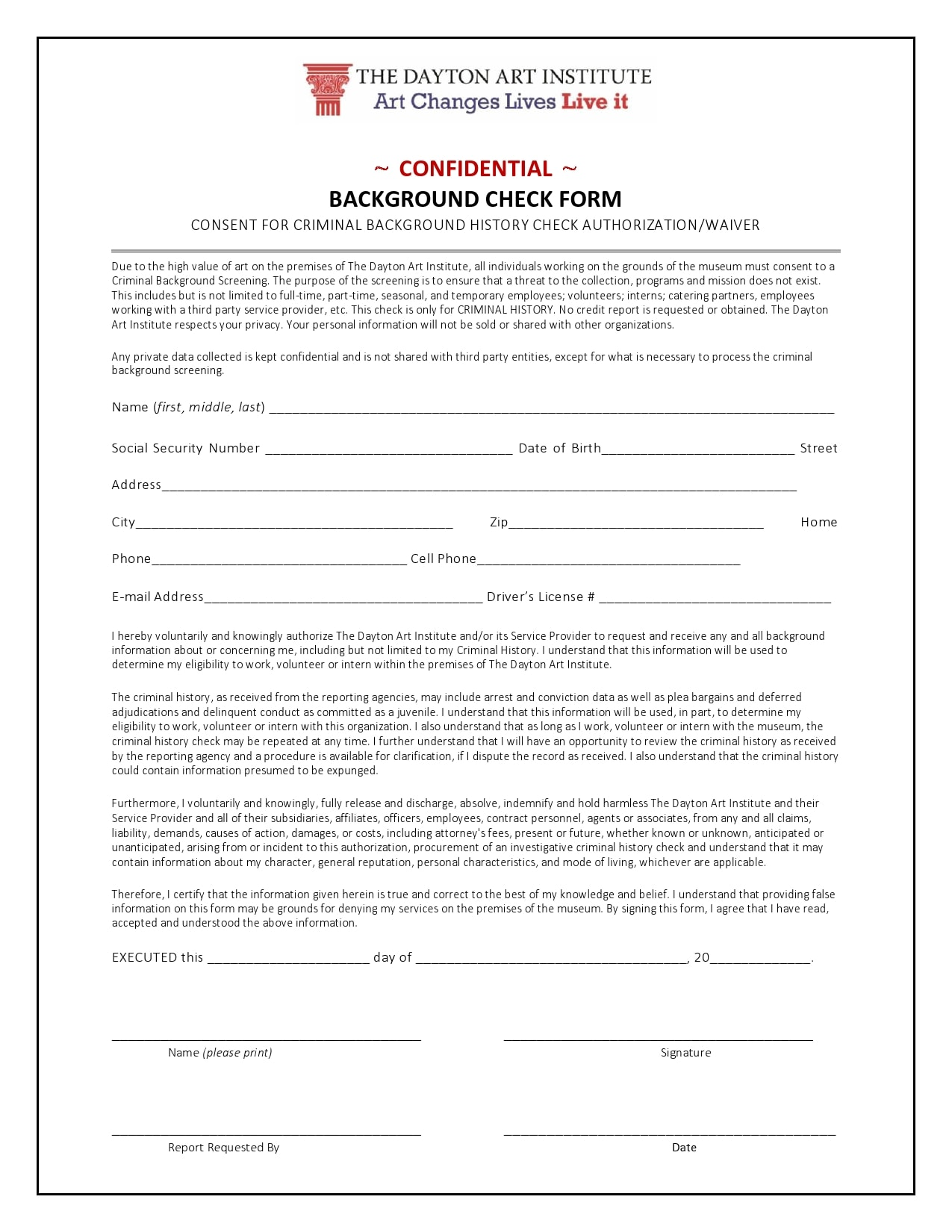 background check form 12