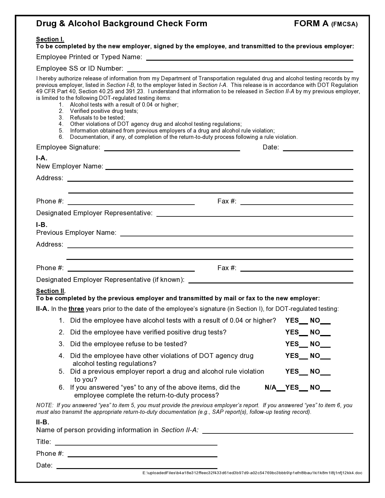 background check form 21