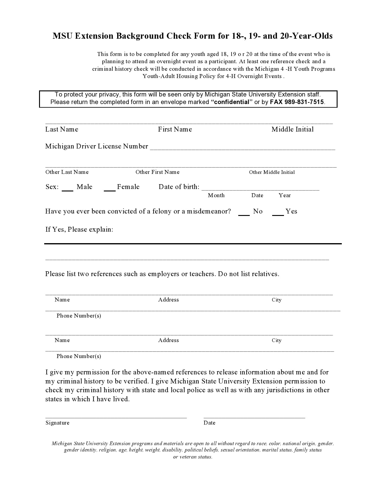 background check form 27