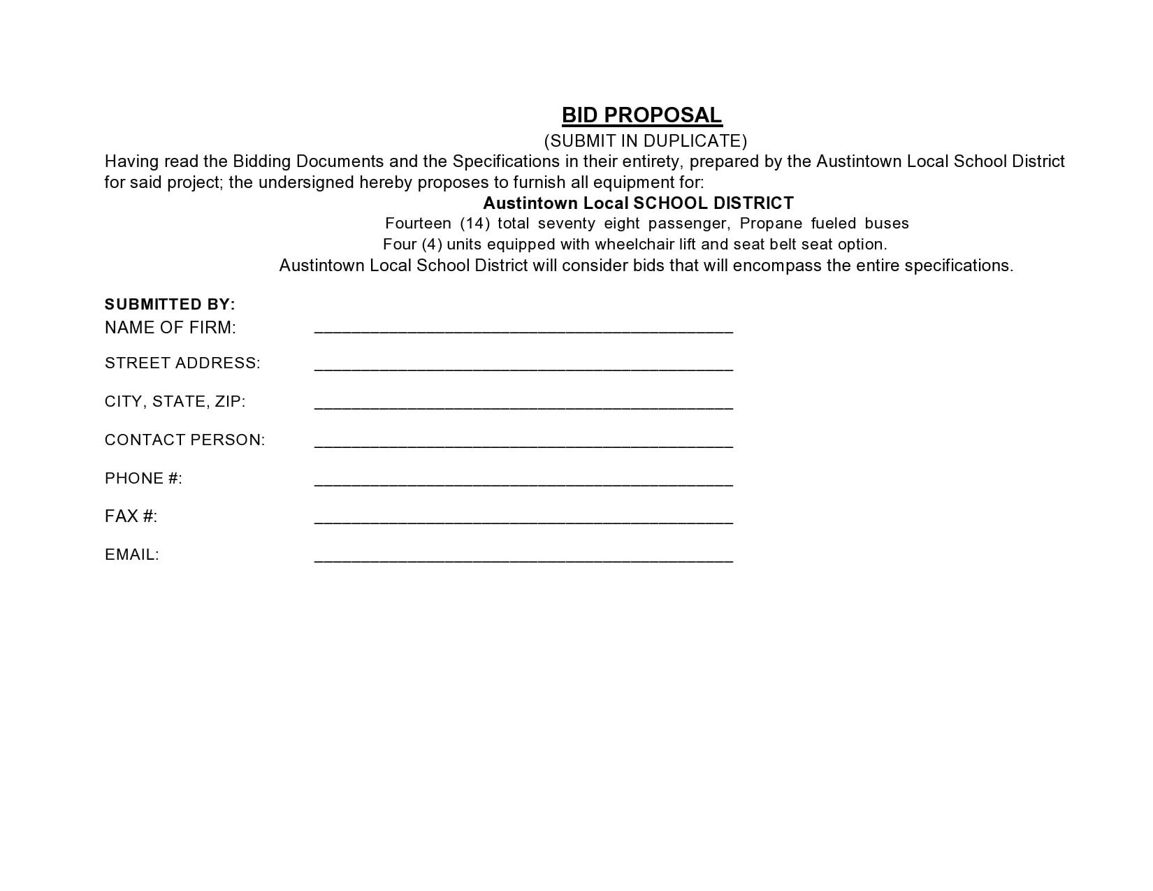 bid proposal 19