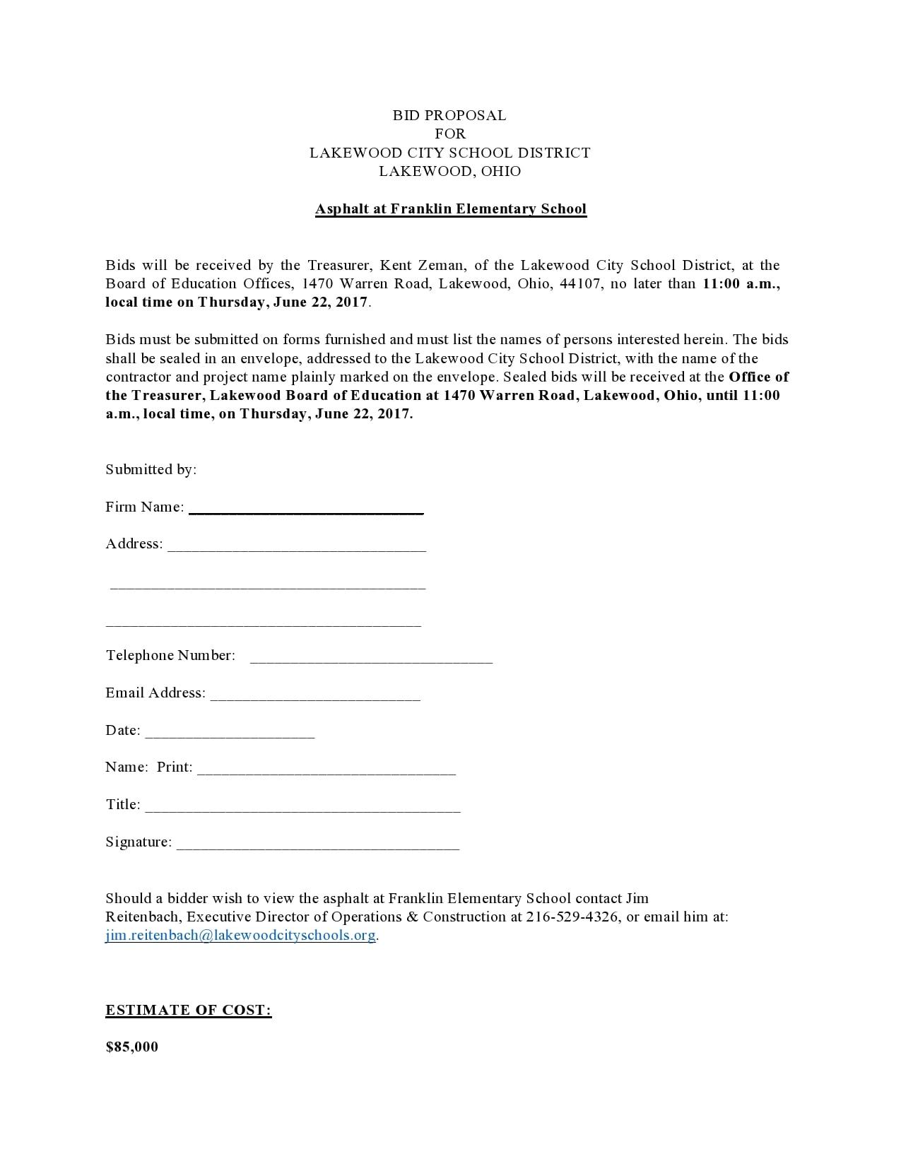 bid proposal 20