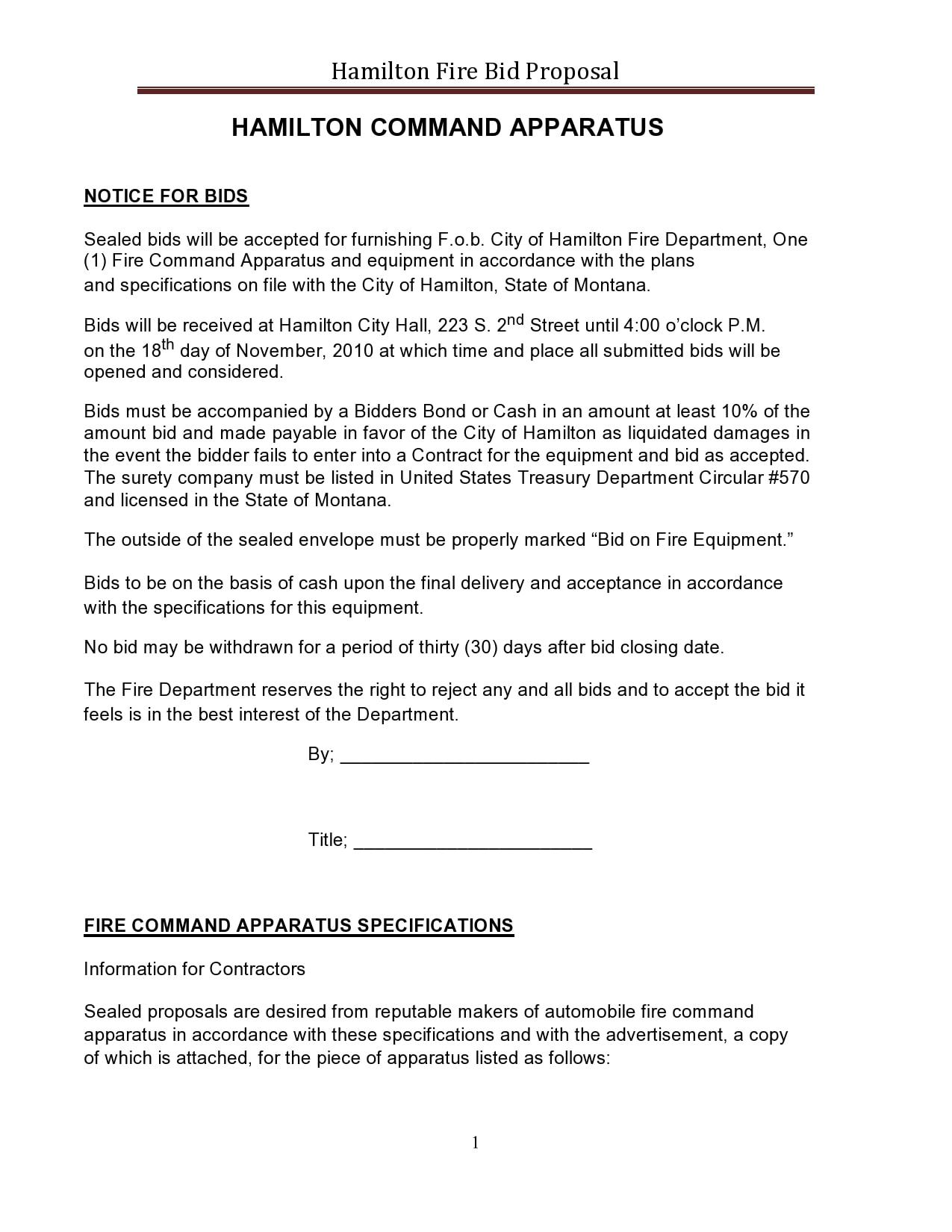 bid proposal 23