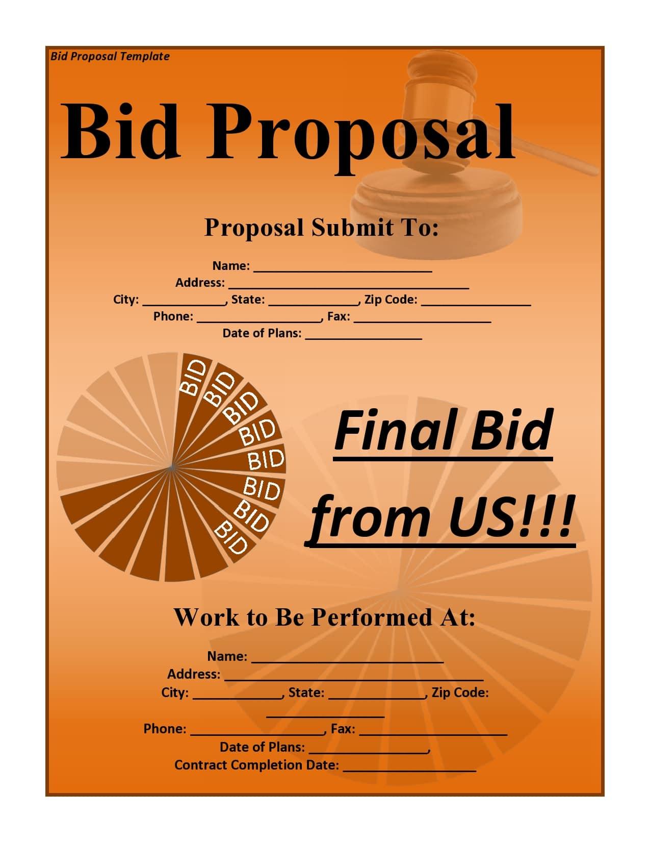 bid proposal 26