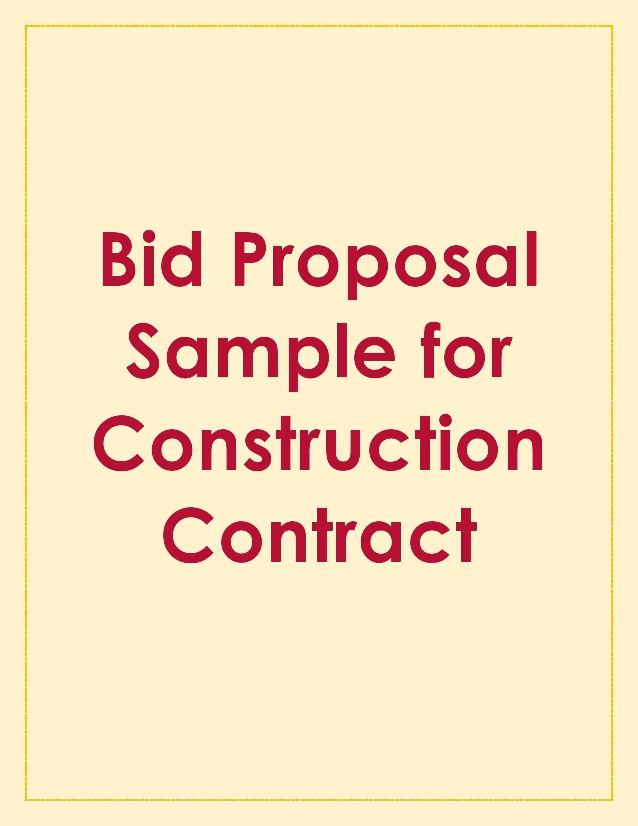 bid proposal 27