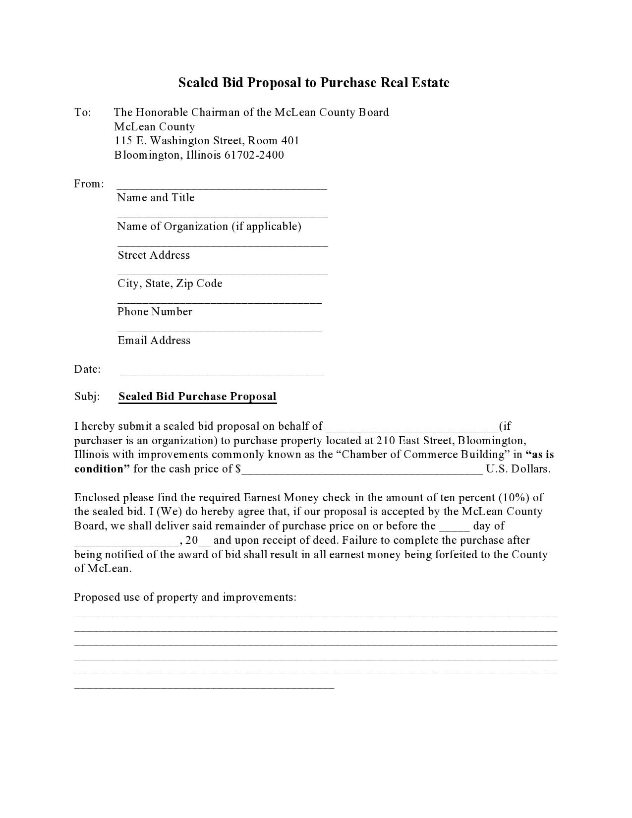 bid proposal 28
