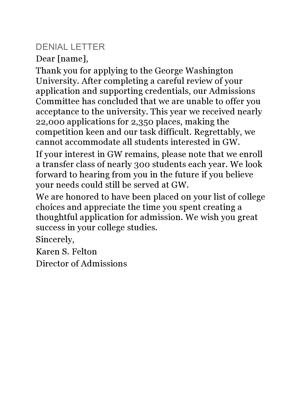 college rejection letter 10