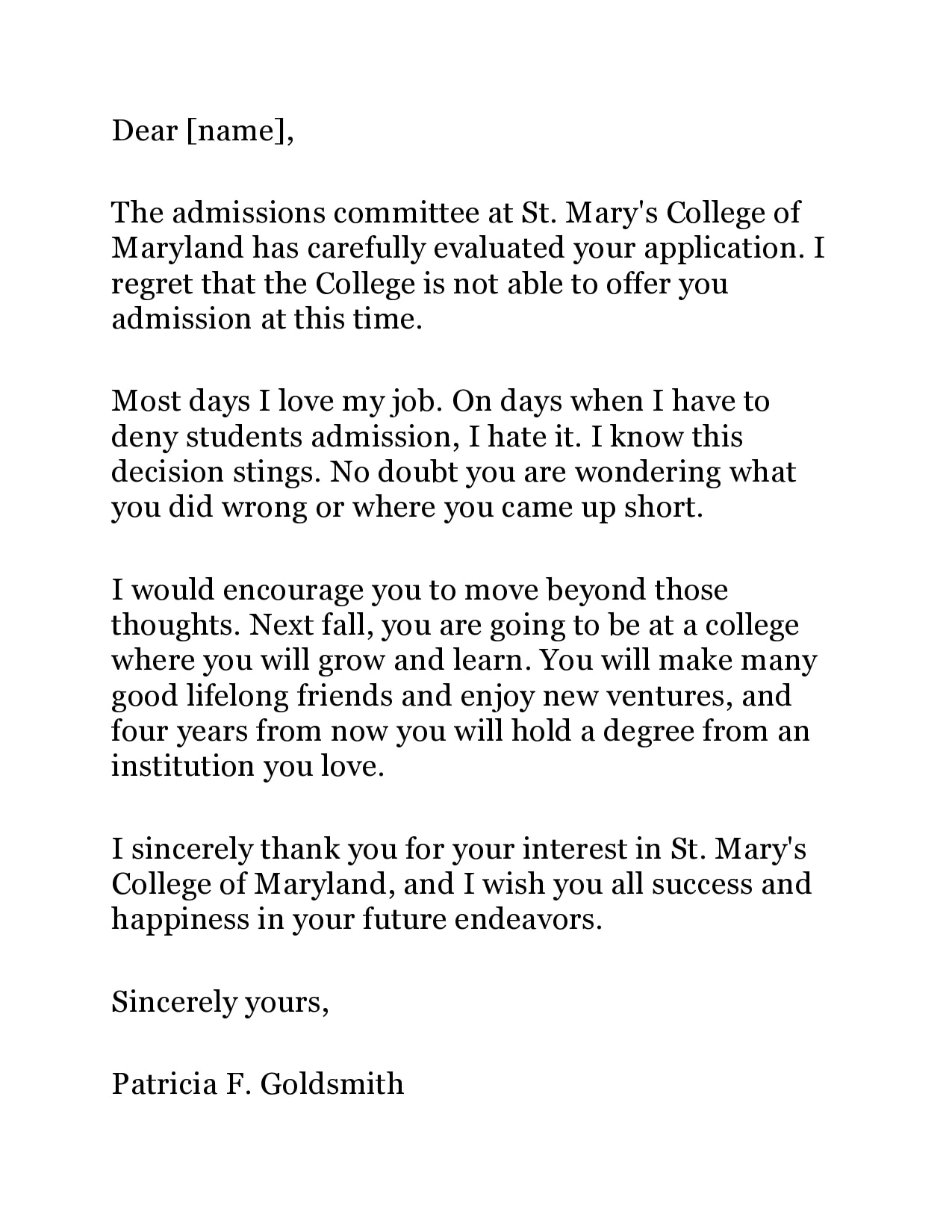 college rejection letter 13