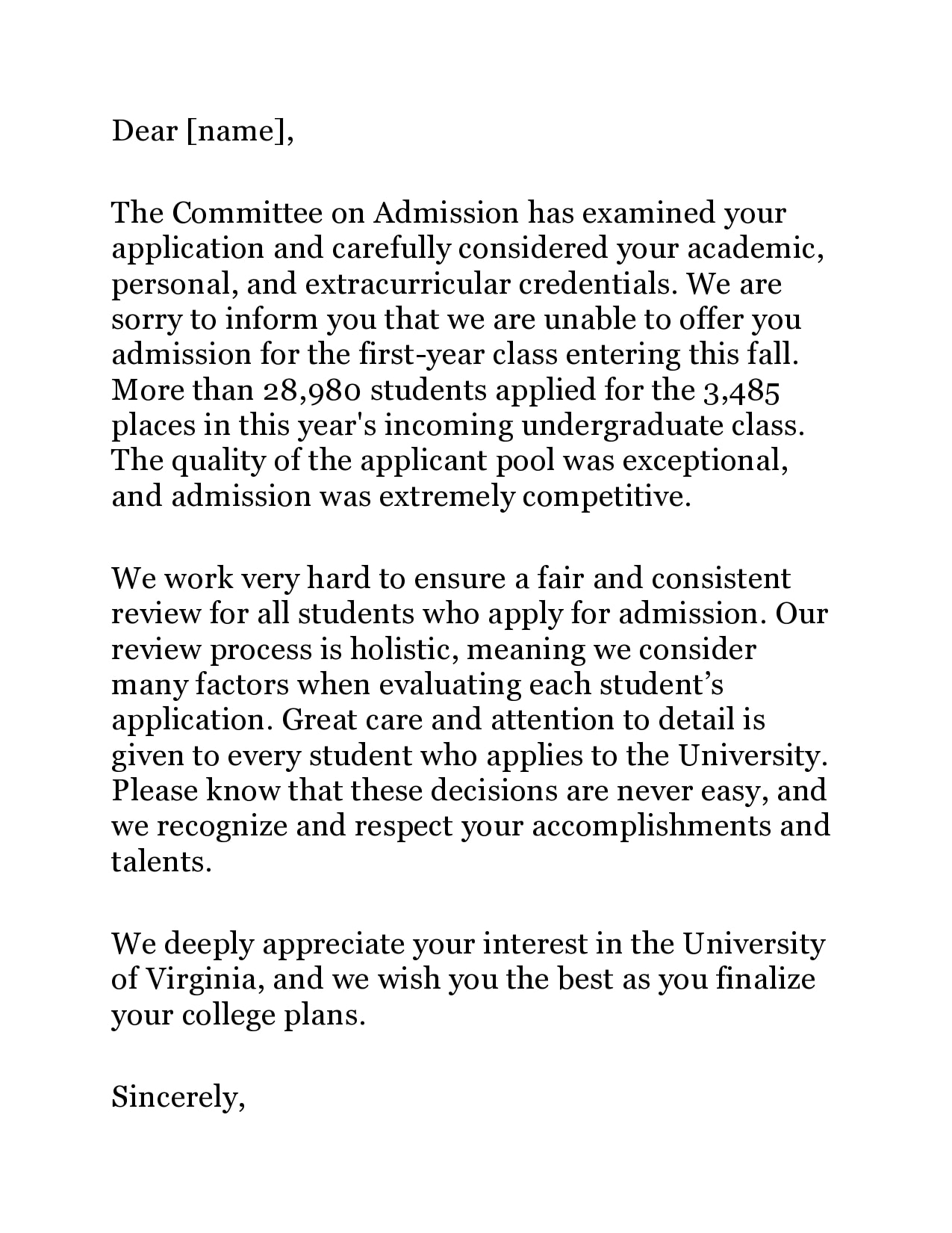 college rejection letter 14