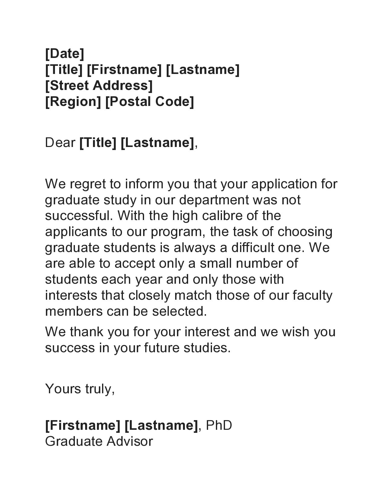 college rejection letter 25