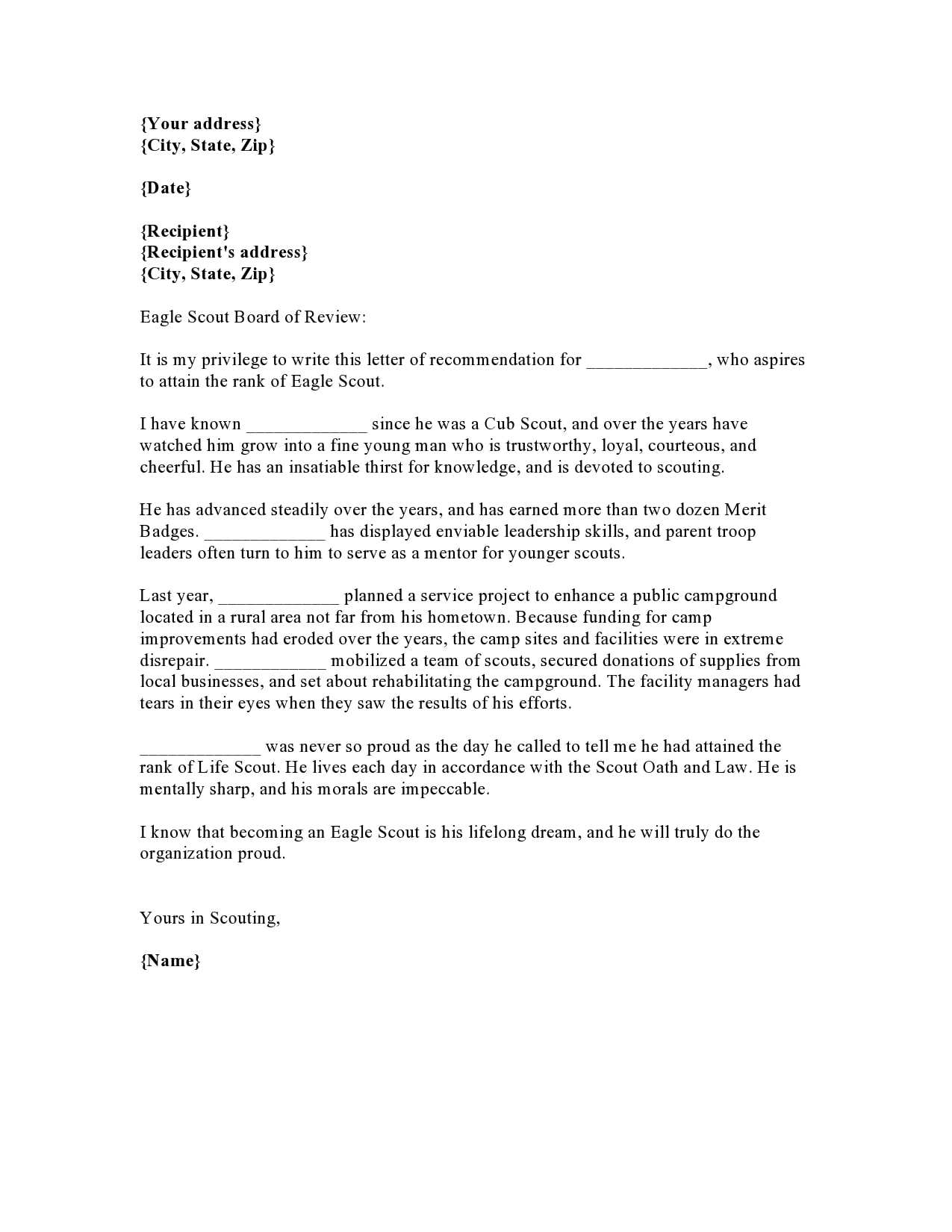 eagle scout letter of recommendation 04