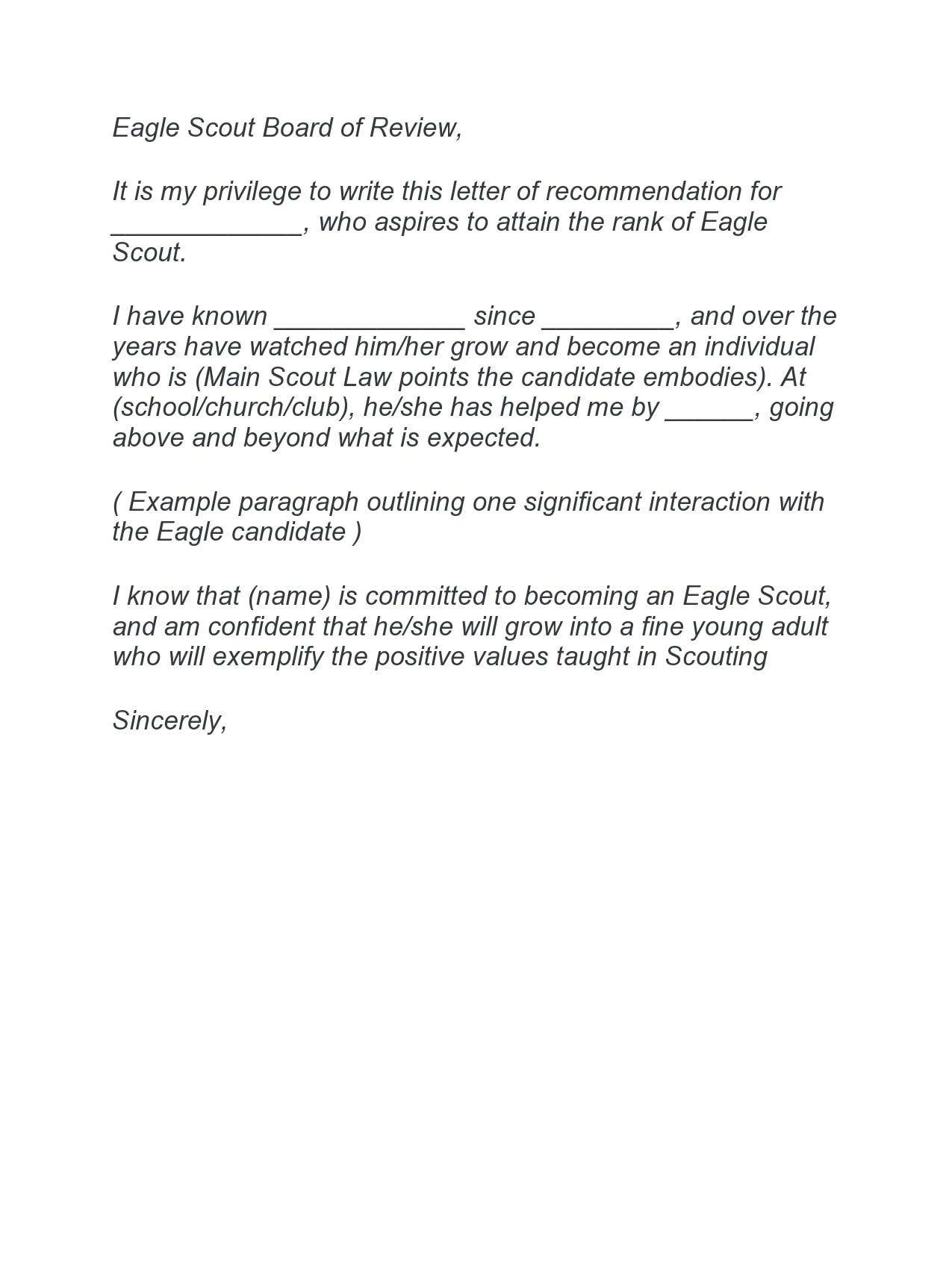 eagle scout letter of recommendation 06