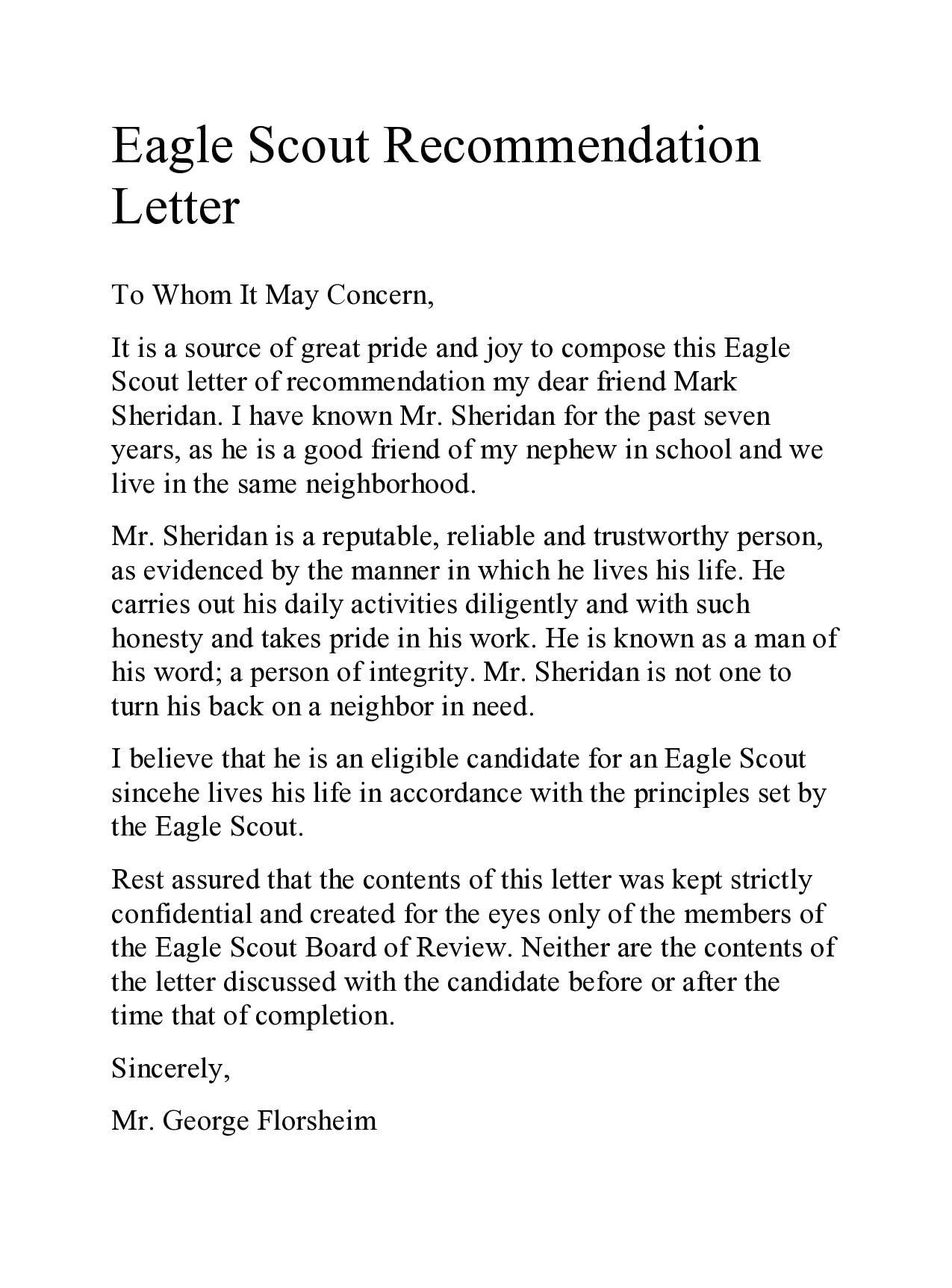 eagle scout letter of recommendation 18