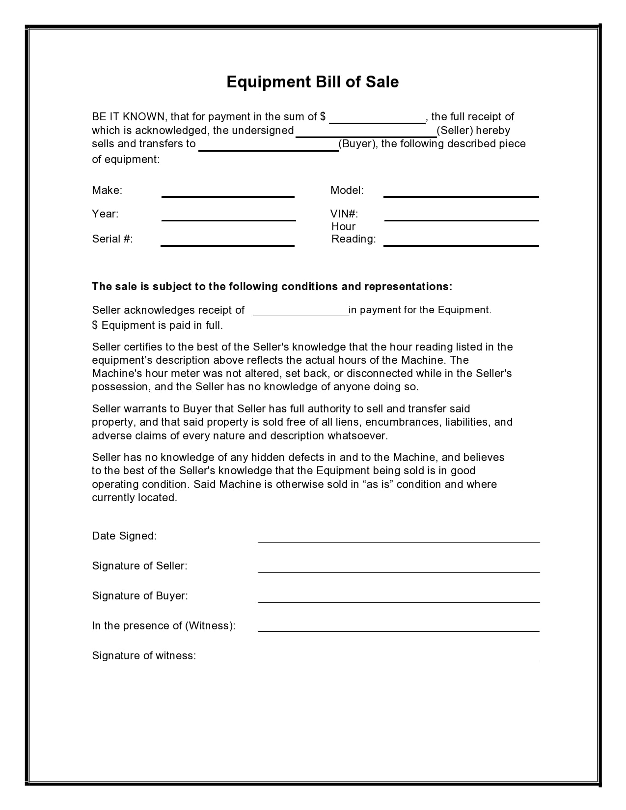 Bill Of Sale Template Pdf from templatearchive.com
